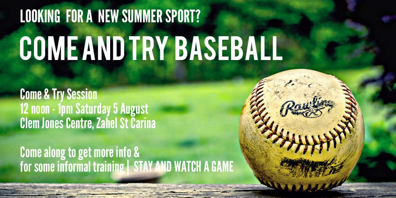 New players: Come and try baseball