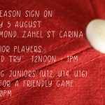 Sign on | Junior Come & Try | Friendly game