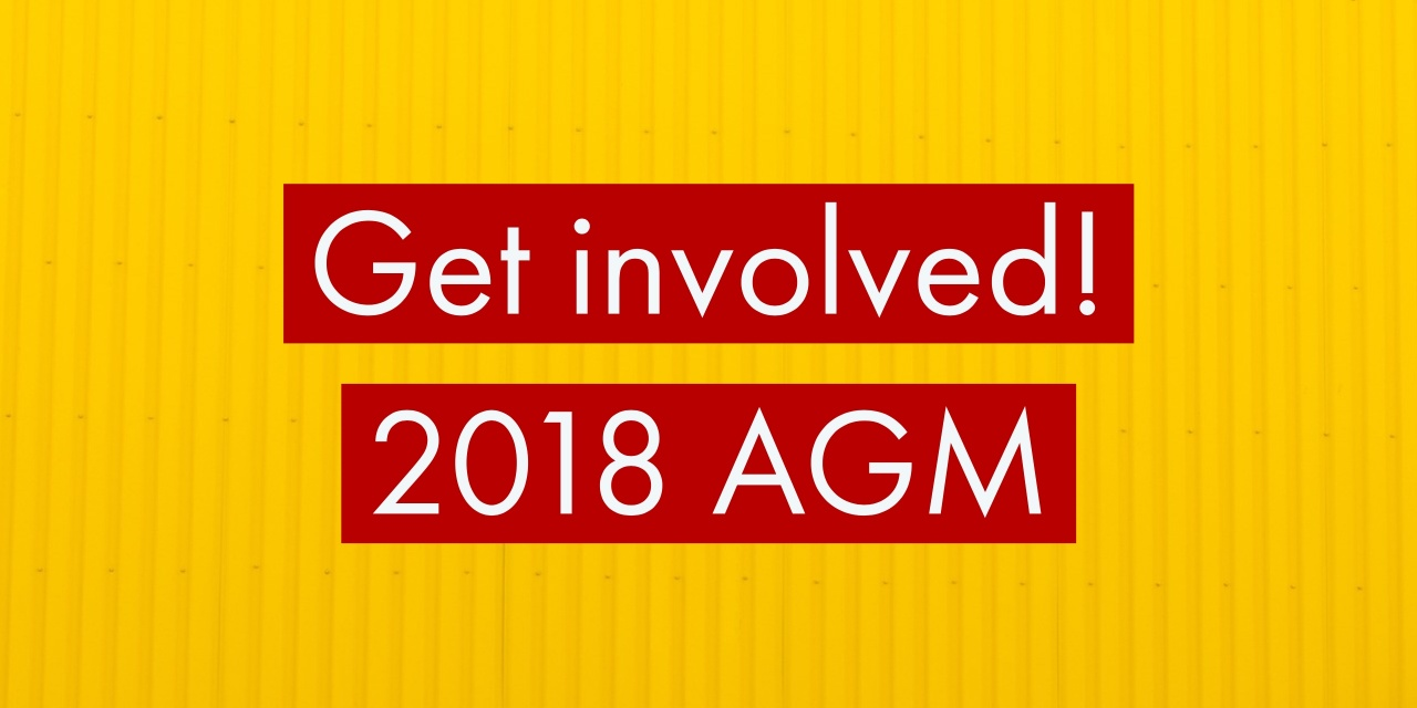2018 AGM meeting – call for nominations