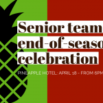 2020 senior teams end-of-season celebration