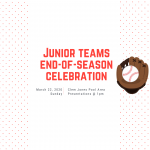 2020 junior teams end-of-season celebration