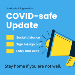 Covid-safe – Sunday training session guidelines