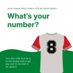 Got your playing shirt sorted?