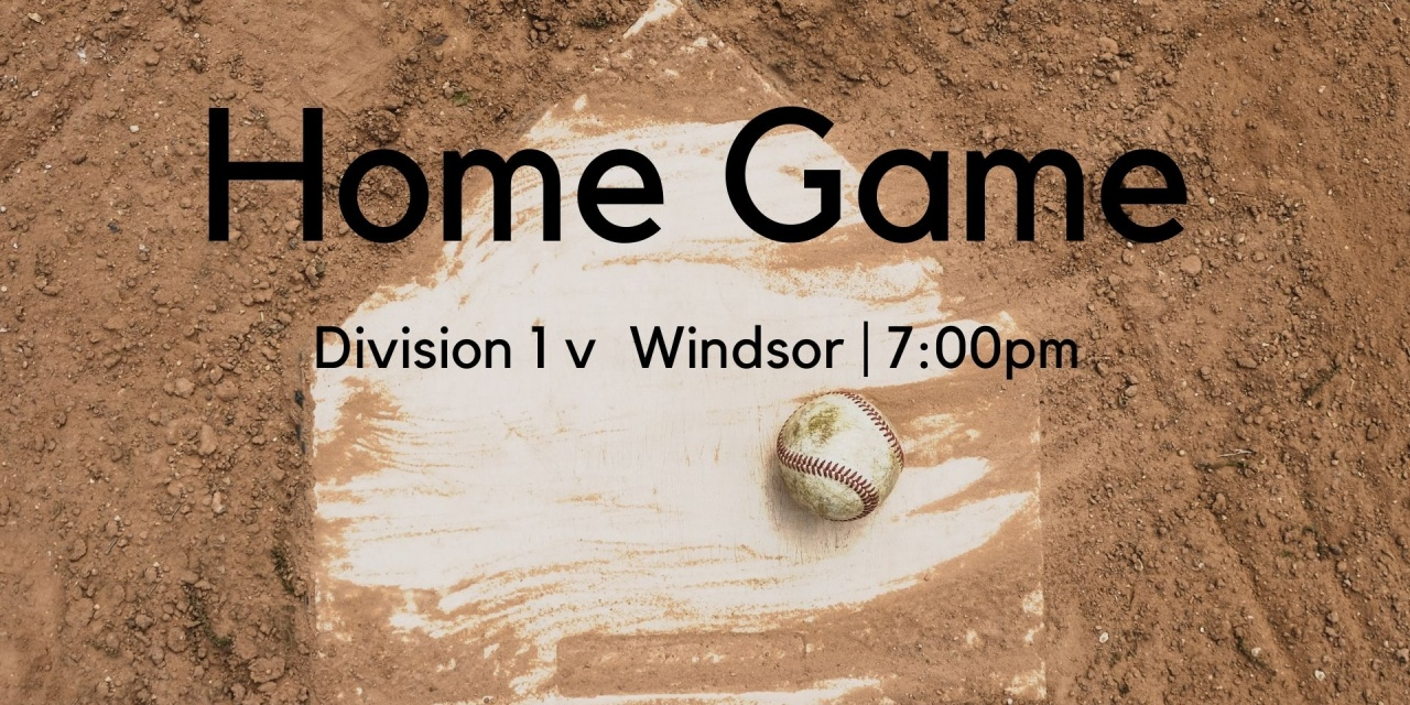 Division 1 home game this Friday night!