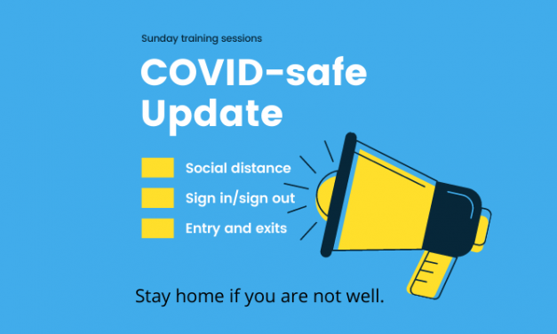 Covid-safe – training session guidelines